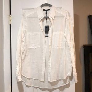 BCBG Maxazria Button down white shirt